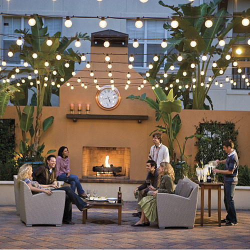 Entertaining Outdoor Fireplace