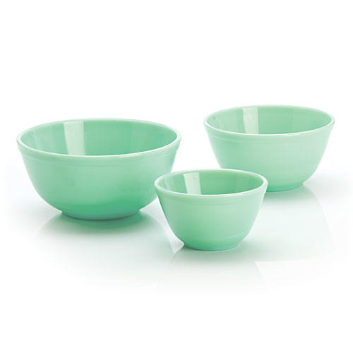 Mosser Glass 3-Piece Mixing Bowl Set in Jadeite