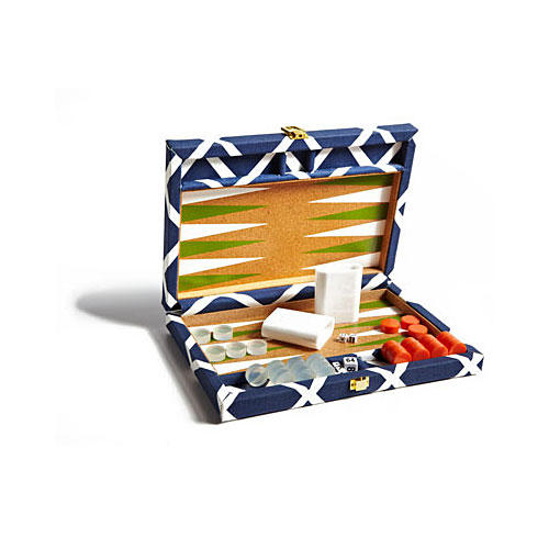 Navy Diamond Backgammon Set