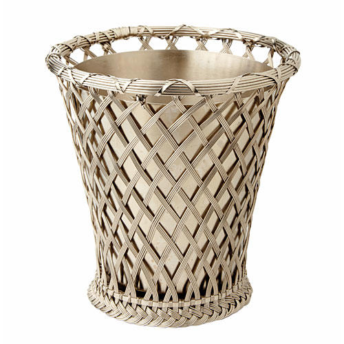Bunny Williams Silver Wire Cachepot