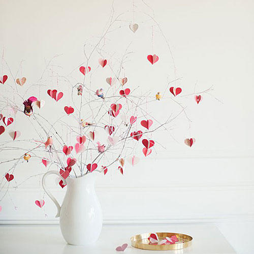 Valentine's Day Branch Tree