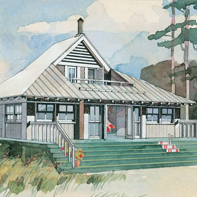 beach bungalow plan 243 - Small House Living