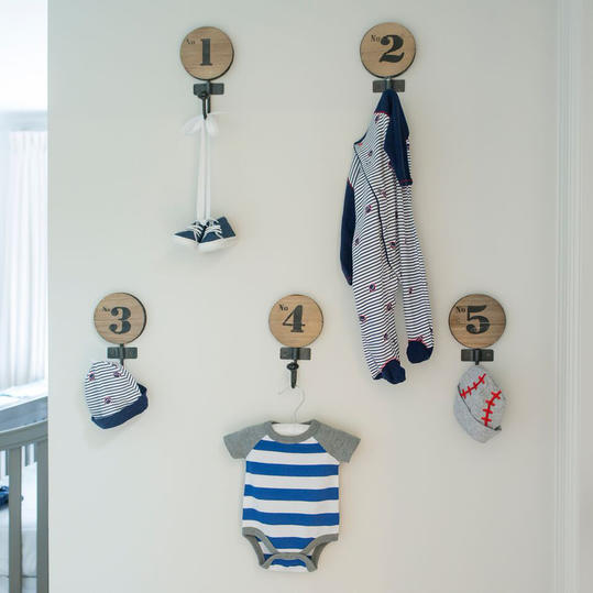 Nursery Entry Wall with Hooks