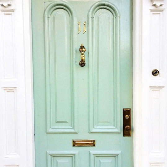 Seafoam Green Door
