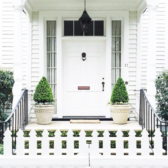 White Door and Picket Fence