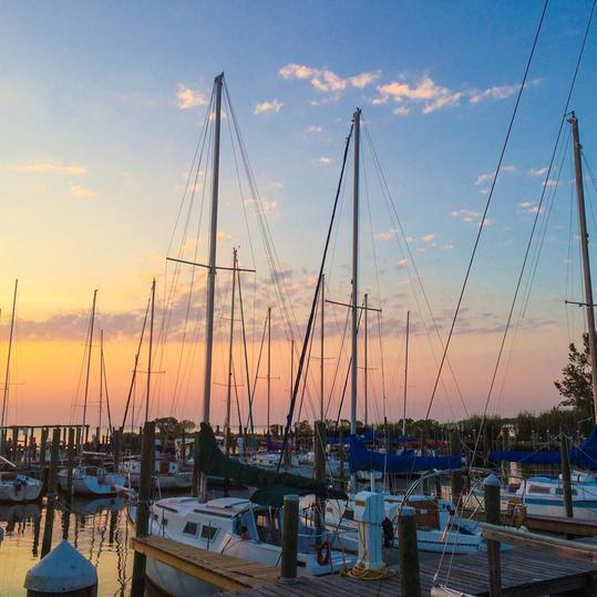 A Fairhope Sunset Over the Marina