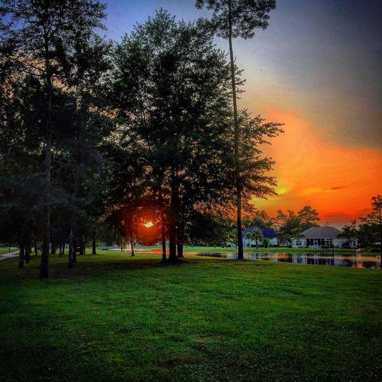A Kingsland Sunset from the Laurel Island Links