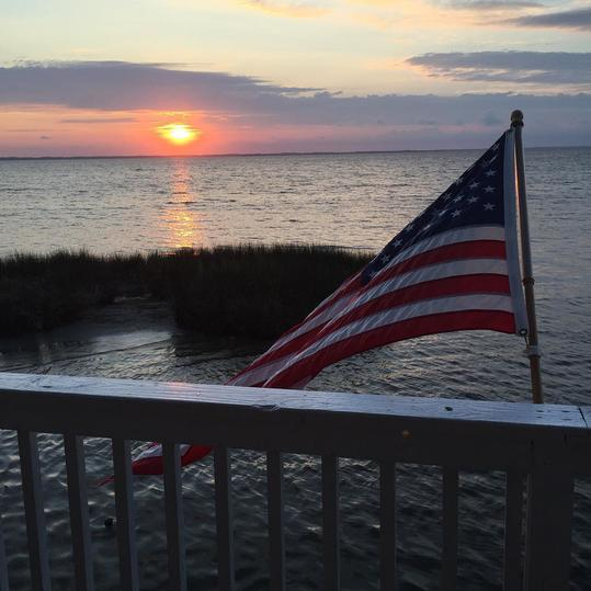 A Patriotic Outer Banks Sunset