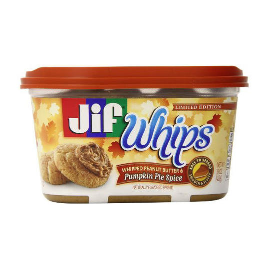 Jif Whipped Peanut Butter & Pumpkin Pie Spice Flavored Spread