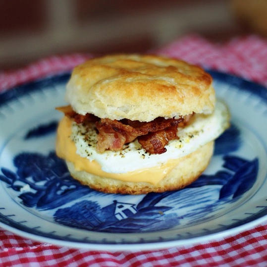 Buttermilk Biscuit with a Side of Blue and White