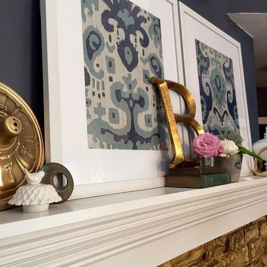 Blue and White with a Dash of Brass