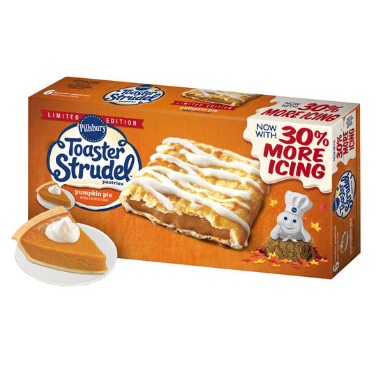 Pillsbury Toaster Strudel Pumpkin Pie Pastries