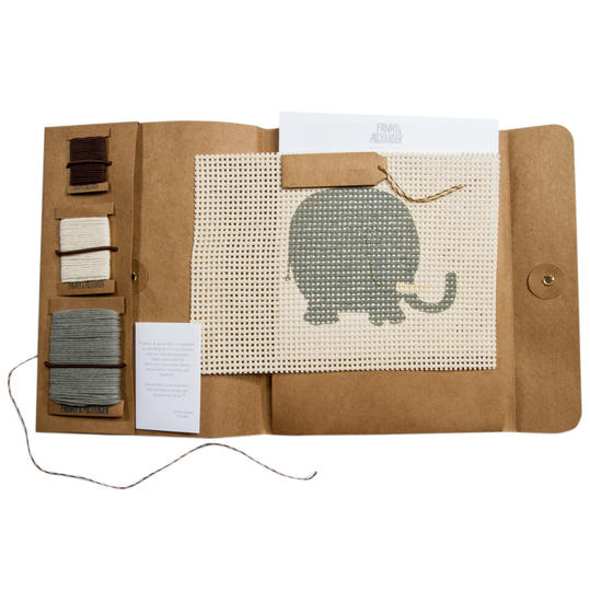 Fanny and Alexander Elephant Needlepoint Kit