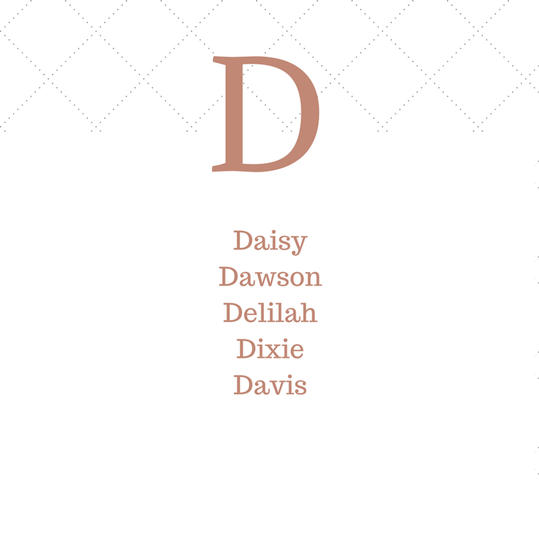 Timeless Southern D Baby Names