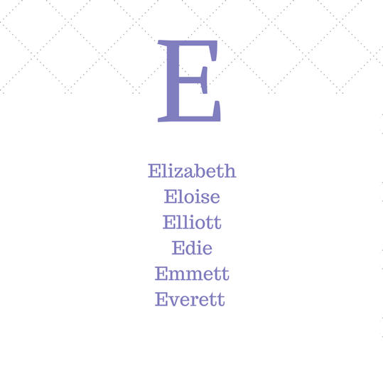 Timeless Southern E Baby Names