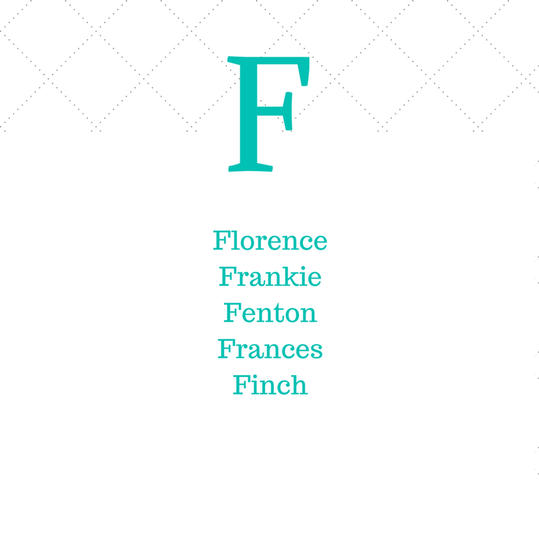 Timeless Southern F Baby Names