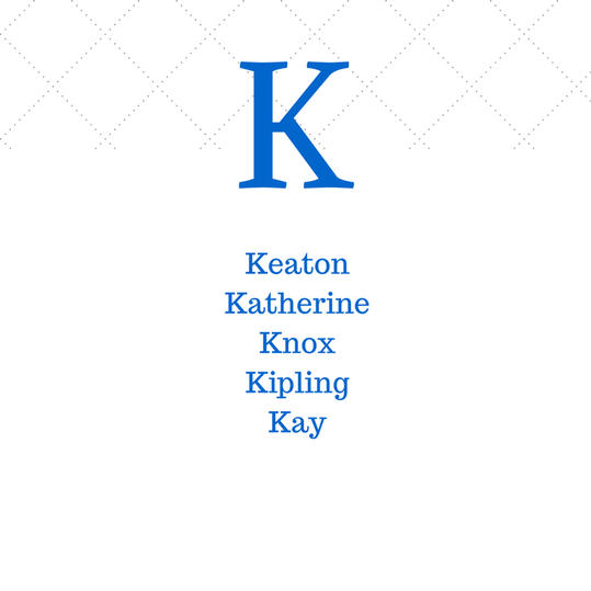 Timeless Southern K Baby Names