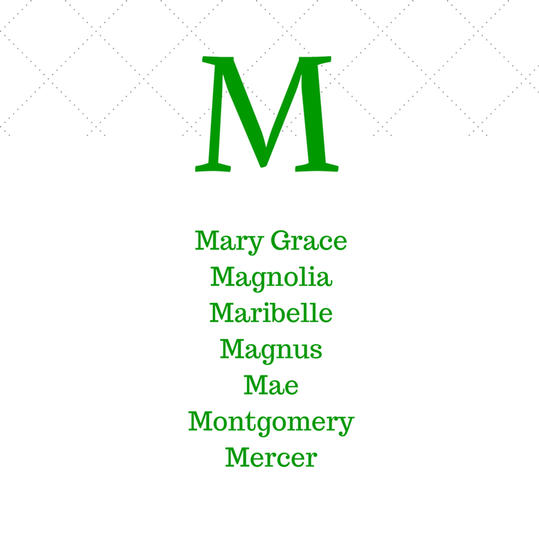 Timeless Southern M Baby Names