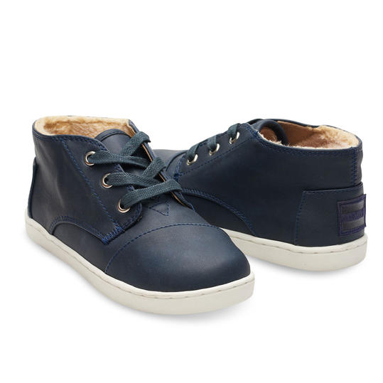 Blue Synthetic Leather Youth Paseo Mids