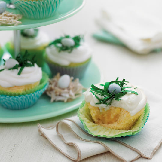 Pineapple-Coconut Cupcakes with Buttermilk-Cream Cheese Frosting Recipe