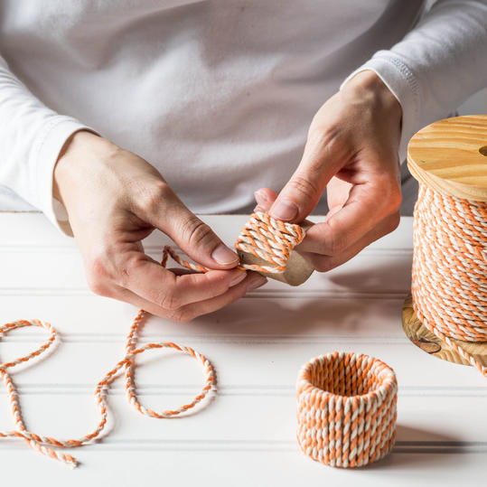 Easter Napkin Rings Steps 3 and 4