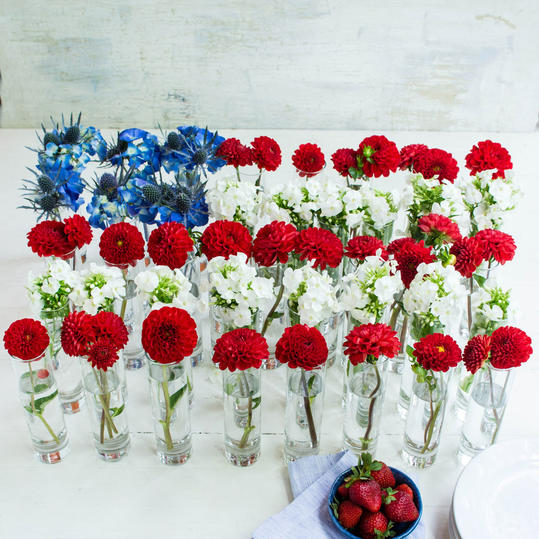 Floral Flag Centerpiece