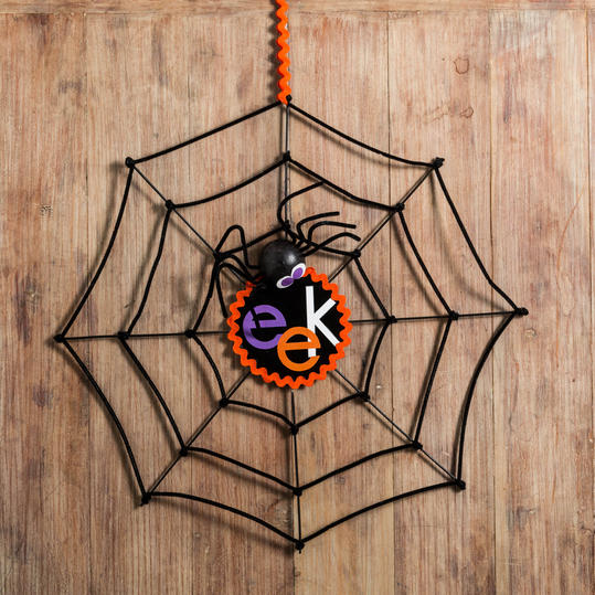 Halloween Spiderweb Decoration Step 3