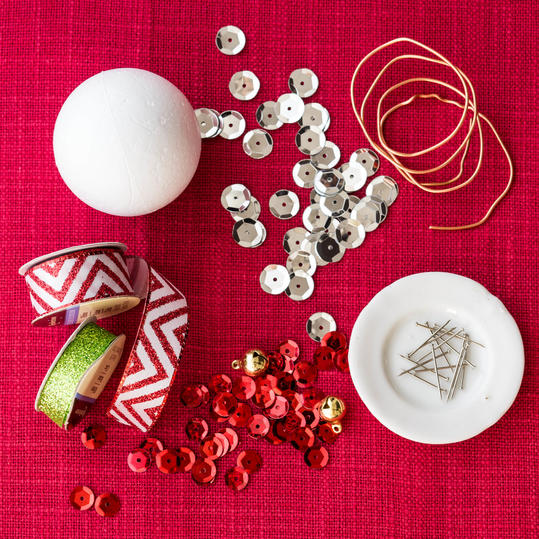 Sequin Christmas Ornament Materials
