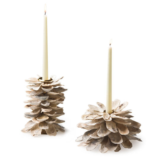 Oyster Shell Candleholders by recycled-design