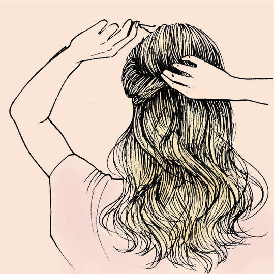 The Only Updo Hairstyles Youll Ever Need Southern Living - Drawing a hairstyle