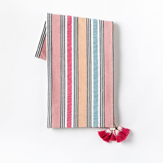Seersucker Stripe Picnic Throw