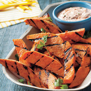 Grilled Sweet Potatoes with Chipotle Dip
