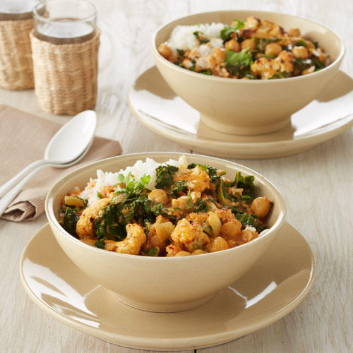 kale cauliflower and chickpea curry recipe