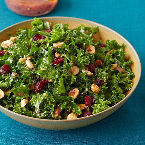 kale salad with cranberry vinaigrette recipe