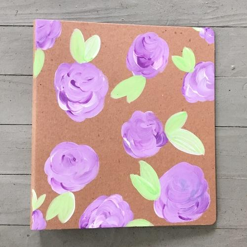 DOT Purple Floral Binder
