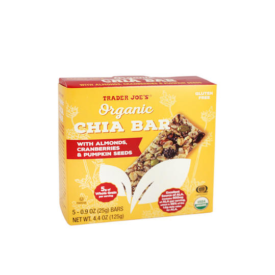 Trader Joe's Organic Chia Bars