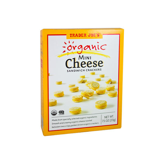 Organic Mini Cheese Sandwich Crackers Trader Joe's