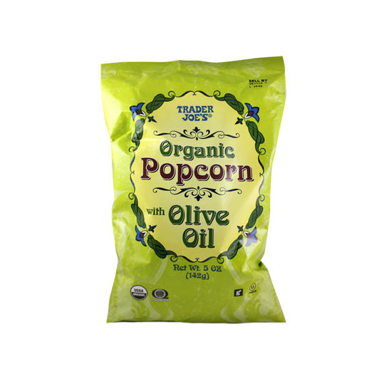Organic Popcorn with Olive Oil Trader Joe's