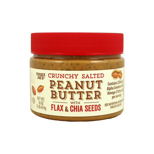 Crunchy Salted Peanut Butter with Flax & Chia Seeds