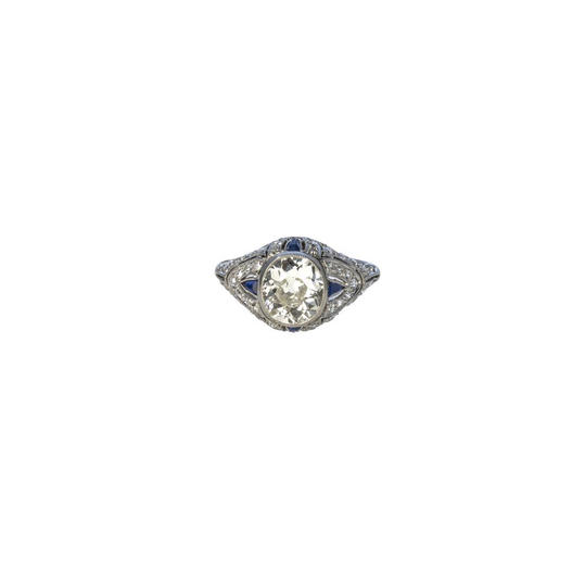 Antique Cushion Cut Ring