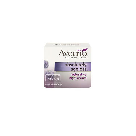 Aveeno Active Naturals Absolutely Ageless Restorative Night Cream, Blackberry