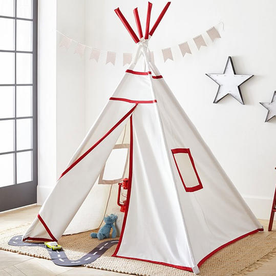 Red with White Trim Teepee