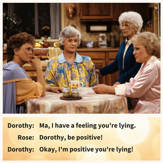 Golden Girls Lying