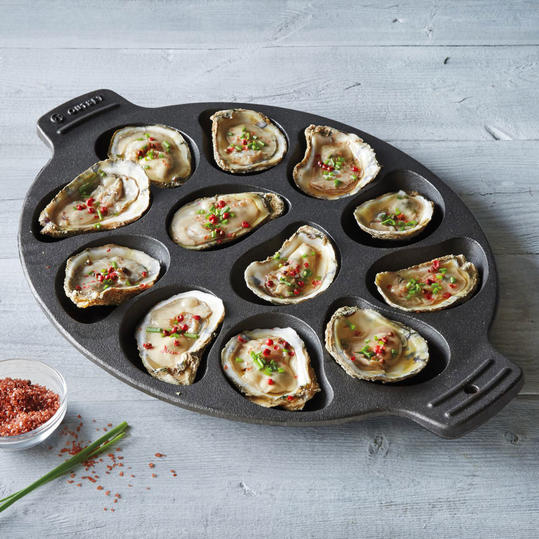 Sur La Table Cast Iron Oyster Pan