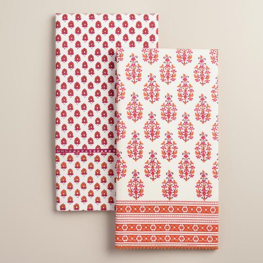 Coral Rana Kitchen Towels Set