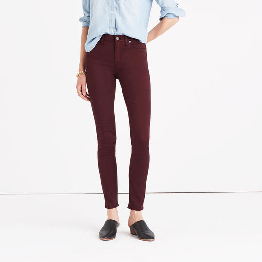 High-Rise Skinny Sateen Jeans