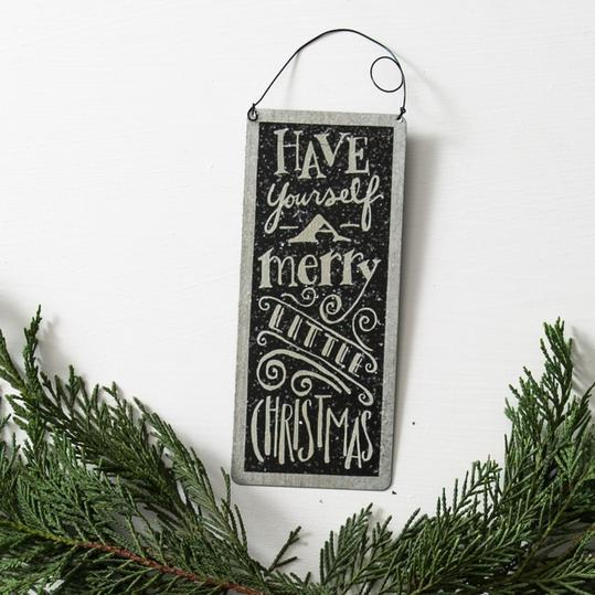 Tin  Merry Little Christmas  Sign