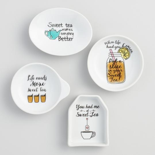 Sweet Tea Porcelain Tea Rests Set of 4
