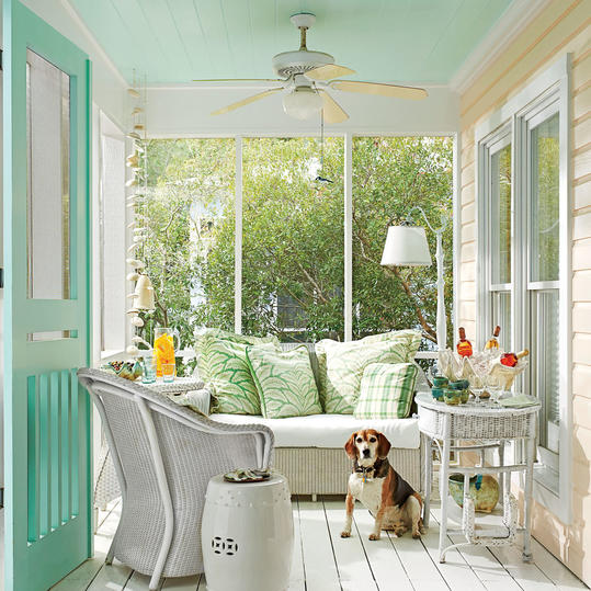 Caribbean Porch with Pastel Colors