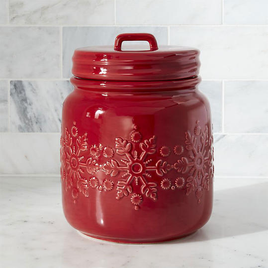 Snowflake Cookie Jar